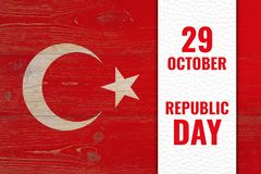 29 october - republic day, turkish national holiday Stock Image