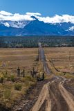 Road to Mount Sneffels, San Juan Mountains, Ouray County SW Colo. OCTOBER 21, 2017 - RIDGWAY, COLORADO - Road to Mount Sneffels, San Juan Mountains -remote road royalty free stock images