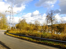 October road. Road going through the Forest in the Capital City of Lithuania Stock Photography