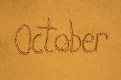 October in the sand Stock Images