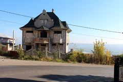 Gipsy house, street view Royalty Free Stock Image