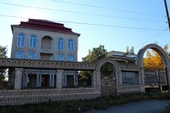 Gipsy house, street view Stock Photography