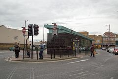 October 2017, Southend On Sea, Essex, A view of the bus station. A street view of the bus station in Southend On Sea Stock Images