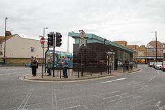 October 2017, Southend On Sea, Essex, A view of the bus station. A street view of the bus station in Southend On Sea Stock Image