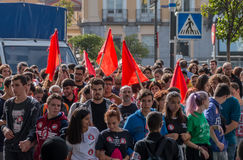 October 26, 2016 - Students marching at protest against education politics in Madrid, Spain. Students marching at protest against education politics in Madrid Stock Images