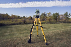 October surveying Stock Image