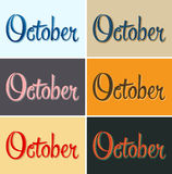 October vector sign Royalty Free Stock Photography