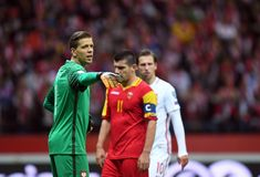 Poland - Montenegro Russia 2018 qualifications Stock Photography