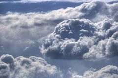 October weather report. Clouds over italy, HDR image, three RAW shots with +-2EV Stock Photography