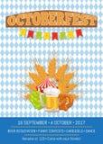 Octoberfest慕尼黑啤酒节增进海报传染媒介 免版税图库摄影