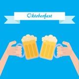 Octoberfest海报 免版税图库摄影