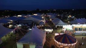 Octoberfest и справедливо на Tulsa Оклахоме в вечере - США 2017 сток-видео