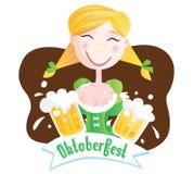 Octoberfest (Bavarian girl) Royalty Free Stock Photography