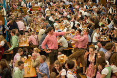 Octoberfest beer drinkers Munich 2012 Stock Photo