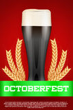 Octoberfest beer poster Royalty Free Stock Images