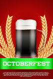 Octoberfest beer poster Royalty Free Stock Photography