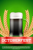 Octoberfest beer poster Royalty Free Stock Photos