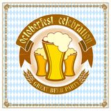 Octoberfest card design. Stock Photo