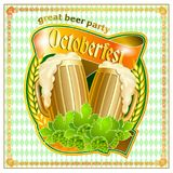 Octoberfest card design. Royalty Free Stock Image