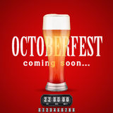 Octoberfest Coming soon poster. Royalty Free Stock Photo