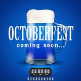 Octoberfest Coming soon poster. Stock Photos
