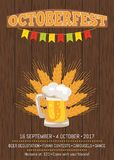 Octoberfest Creative Poster Beer Traditional Glass Stock Image