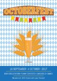 Octoberfest Creative Poster with Information Beer Stock Photos