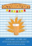 Octoberfest Creative Poster with Information Beer Royalty Free Stock Photography