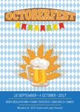 Octoberfest Creative Poster with Information Beer Royalty Free Stock Photo