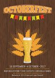 Octoberfest Creative Poster Information Holiday Royalty Free Stock Photo