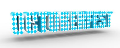 Octoberfest 3D text Stock Image