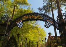 Octoberfest entrance Royalty Free Stock Images