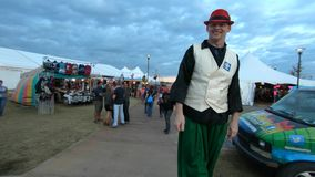 Octoberfest and fair at Tulsa Oklahoma in the evening - USA 2017