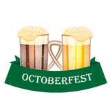 Octoberfest festival card with beer. Vector illustration Royalty Free Stock Photo