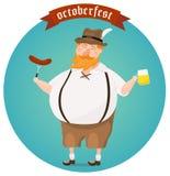 Octoberfest-Festival-Vektorillustration Stockbilder