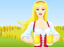 Octoberfest girl Stock Photos