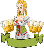 Octoberfest girl Royalty Free Stock Images