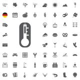 Octoberfest icon set. German food and beer symbols isolated on white background. Vector illustration.Oktoberfest beer festival fla. Octoberfest icon set. German Royalty Free Stock Images