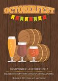 Octoberfest Oktoberfest Promotional Poster Vector Stock Photo