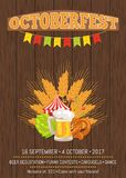Octoberfest Oktoberfest Promotional Poster Vector Royalty Free Stock Photography