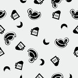 Octoberfest pattern. With hat beer glass sausage minimalistic style Royalty Free Stock Images