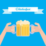 Octoberfest plakat Obrazy Stock