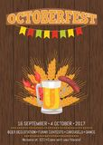Octoberfest Poster Depicting Beer Mug and Food Royalty Free Stock Photos