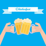 Octoberfest poster Royalty Free Stock Photo