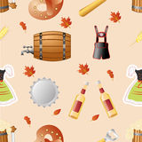 Octoberfest seamless pattern vector Royalty Free Stock Photo