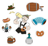 Octoberfest. Set of vector subjects for octoberfest Stock Photo