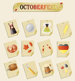 Octoberfest. Set of vector subjects for octoberfest Stock Photos