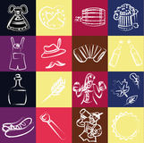 Octoberfest. Set of vector subjects for octoberfest Royalty Free Stock Photo