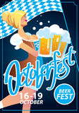 Octoberfest vector poster Royalty Free Stock Photos