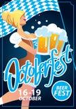 Octoberfest vector poster Royalty Free Stock Photos